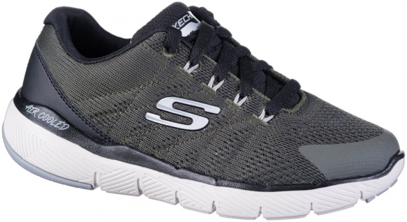 SKECHERS Flex Advantage 3.0 Jungen Mesh Sneakers olive, Skechers Air Cooled M...