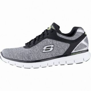 Skechers Synergy Instant Reaction coole Herren Textil Sneakers light grey, Memory Foam-Fußbett, 4241147