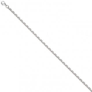 Ankerkette 925 Silber diamantiert 3, 4 mm 50 cm Kette Halskette Silberkette