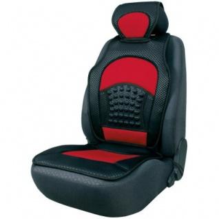 trendige Universal Auto Sitzauflage Space schwarz rot mit Nackenstütze, 30 Grad waschbar, für alle PKW