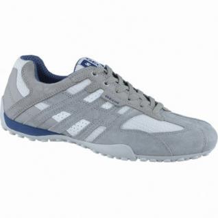 Geox sportliche Herren Leder Sneakers grey, Geox Laufsohle, Geox Fußbett, Antishock, 2140122/40