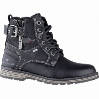 TOM TAILOR Jungen Leder Imitat Winter Tex Boots black, 10 cm Schaft, molliges Warmfutter, warmes Fußbett, 3741156/36
