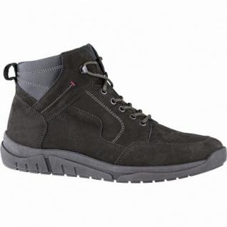 Waldläufer Hanson 12 Herren Leder Winter Boots schiefer, Herren Extra Weite, molliges Warmfutter, Fußbett, 2541138/7.5