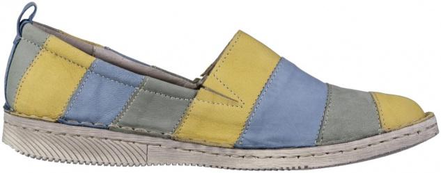 JOSEF SEIBEL Sofie 23 Damen Leder Slippers azur, weiches Leder Fußbett