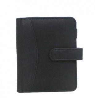 Leder Tasche schwarz für Handy, Minicomputer, elektronische Notizbücher, 2 x CC, 1 Stiftschlaufe, 1 x Ausweis