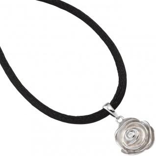 Anhänger Rose 925 Sterling Silber rhodiniert mattiert