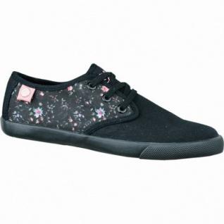 s.Oliver sportliche Mädchen Canvas Sneakers schwarz, weiche Laufsohle, 3334121/33