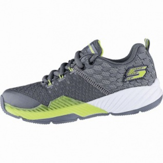 Skechers Clear Track coole Jungen Mesh Sneakers charcoal, Skechers Air Cooled Memory Foam-Fußbett, 4240174