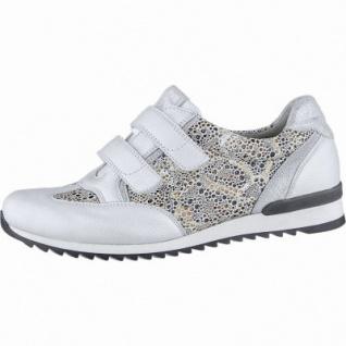 Waldläufer Hurly-Soft Damen Leder Sneakers silber, herausnehmbares Leder Fußbett, Extra Weite H, 1340149/7.5