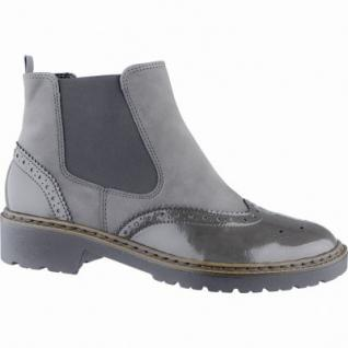 Jenny Portland-ST modische Damen Synthetik Boots grau, Comfort Weite G, Warmfutter, Jenny Fußbett, 1739142