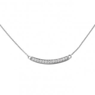 Collier Halskette 925 Sterling Silber mit Zirkonia 45 cm Kette Silberkette
