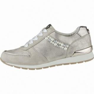 TOM TAILOR coole Damen Leder Imitat Sneakers rose mit Strass, gepolsterte Tom-Tailor-Decksohle, 1240180/37