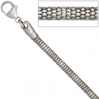 Halskette Kette 925 Sterling Silber rhodiniert 42 cm Silberkette Karabiner