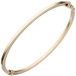 Armreif Armband oval 585 Gold Gelbgold Goldarmreif