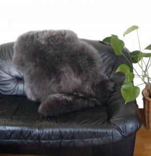 australische Lammfelle anthrazit gefärbt, vollwollig, 30 Grad waschbar, Haarlänge ca. 70 mm, ca. 100x68 cm