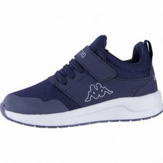 Kappa Tray II Sun K coole Jungen Textil Sneakers navy, Kappa Fußbett, Sneaker Laufsohle, 4240108
