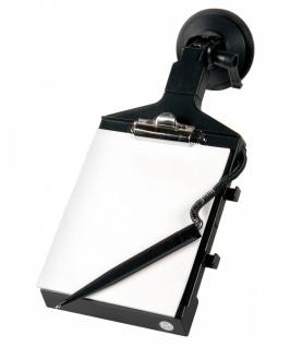 LAMPA Auto KFZ Notizblock, Zettelhalter, 13x15 cm, mit Stift, Metall Clip, Sa...
