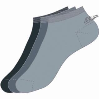s.Oliver Classic NOS Unisex Sneaker grau, 3er Pack Damen, Herren Sneaker Socken