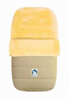 warmer Baby Winter Lammfell Fußsack beige waschbar, für Kinderwagen, Buggy, c...