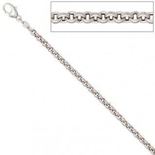 Erbskette 585 Weißgold 3 mm 42 cm Gold Kette Halskette Weißgoldkette Karabiner