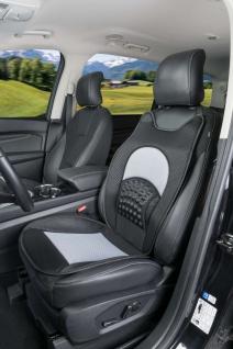 weiche Universal Auto Sitzauflage New Space grau, hohes Rückenteil, 36 Massag... - Vorschau 2