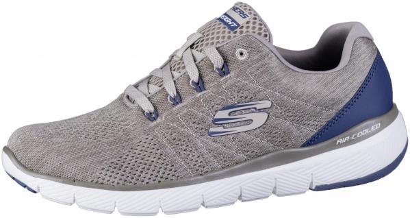 SKECHERS Flex Advantage 3.0 Herren Mesh Sneakers taupe, Air Cooled Memory Foa...