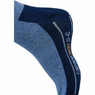 Camano 2er Pack Damen, Herren Sport Socken blau, Bund ohne Gummidruck