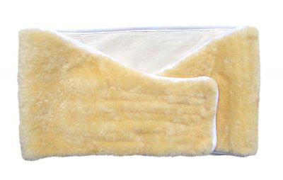 warmer Lammfell Nierengurt, Nierenwärmer, Rückenwärmer, ökologisch gegerbtes Lammfell, ca. 118x25 cm
