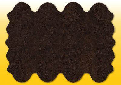 Fellteppiche braun gefärbt aus 8 Lammfellen, Größe ca. 185 x 235 cm, 30 Grad waschbar