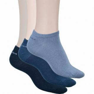 s.Oliver Classic NOS Unisex Sneaker, 3er Pack Damen, Herren Sneaker Socken blau, 6533115/39-42