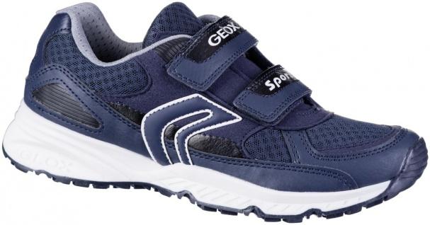 GEOX Jungen Leder Sneakers navy, atmungsaktive Geox Laufsohle