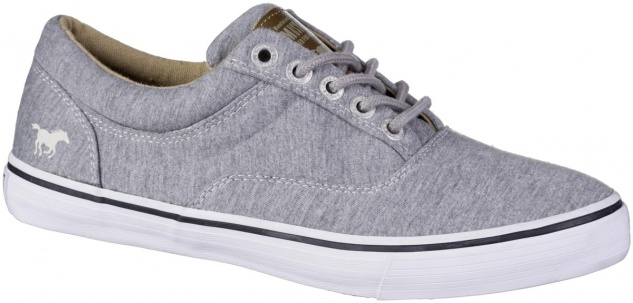 MUSTANG Damen Canvas Sneakers grau, Textilfutter, softe Decksohle