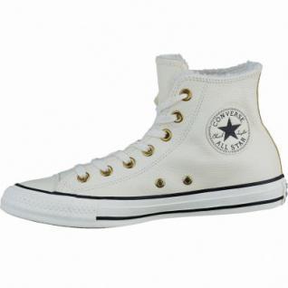 Converse CTAS Leather Fur coole Damen Leder Winter Sneaker parchment, Warmfutter, Converse Laufsohle, 1637279