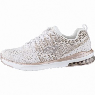 Skechers Skech-Air-Infinity coole Damen Strick Sneakers white rosegold, Air-Cooled-Memory-Foam-Fußbett, 4142112/36