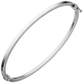 Armreif Armband oval 585 Gold Weißgold Weißgoldarmreif