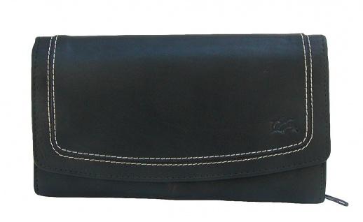 Dolphin exklusive große Damen Leder Börse schwarz, 9xCC, 3 Scheinfächer, extr...