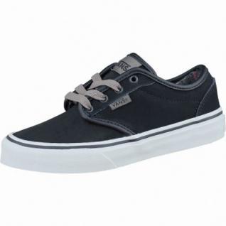 Vans Atwood Jungen Synthetik Sneakers flannel black bungee, Warmfutter, weiche Vans-Decksohle, 3437104