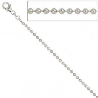 Kugelkette 925 Silber 2, 5 mm 90 cm Halskette Kette Silberkette Karabiner