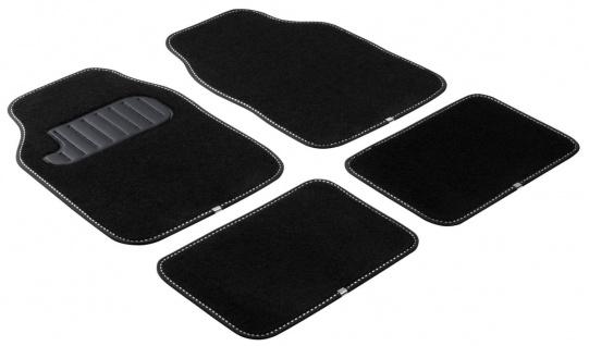 Komplett Set Universal Polyester Auto Fußraum Matten The Color schwarz weiß 4...