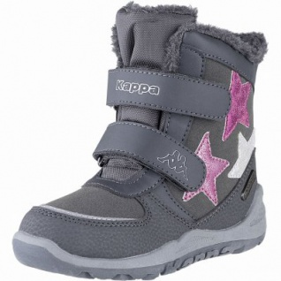 Kapppa Glitzy Tex K Mädchen Synthetik Winter Boots grey, 11 cm Schaft, Warmfutter, Kappa Fußbett, 3741130/30 - Vorschau 2