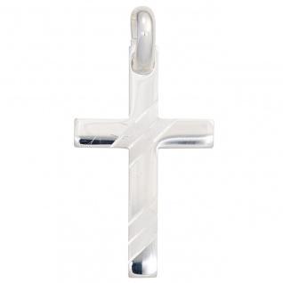 Anhänger Kreuz 925 Sterling Silber teil matt Kreuzanhänger Silberkreuz