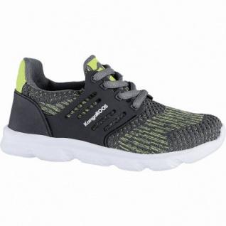 Kangaroos Draga Kids coole Jungen Strick Sneakers steel grey, Memory Foam-Fußbett, Laschen-Tasche, 4240125/28