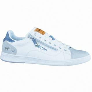 Mustang coole Herren Synthetik Sneakers offwhite, Textilfutter, gepolsterte Decksohle, 2136123/48