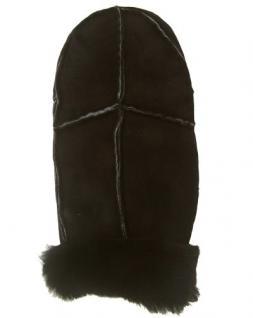 Damen Patch Fellfäustlinge braun, Damen Fellhandschuhe braun, Größe 8 - Vorschau 1