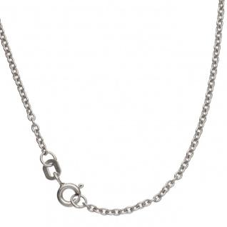 Ankerkette 333 Weißgold 1, 6 mm 50 cm Gold Kette Halskette Weißgoldkette