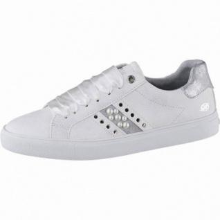 separation shoes 29438 d0b78 Dockers modische Damen Leder Imitat Sneakers weiss, mit Perlen,  herausnehmbare Decksohle, 1242161/36