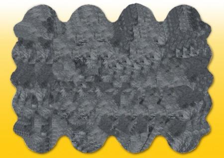 Fellteppiche grau gefärbt aus 8 Lammfellen, Größe ca. 185 x 235 cm, 30 Grad wa...