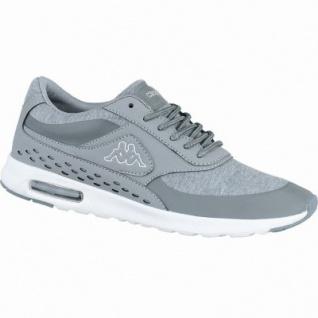 Kappa Milla coole Damen Synthetik Textil Sneakers grey white, Sneaker Laufsohle, 4238199/37