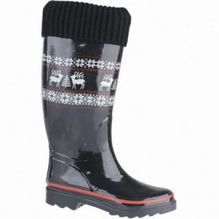 Beck Rentier warmer Damen Winter Gummistiefel schwarz aus Gummi, Fleece Futter, Gummi Laufsohle, 5039105