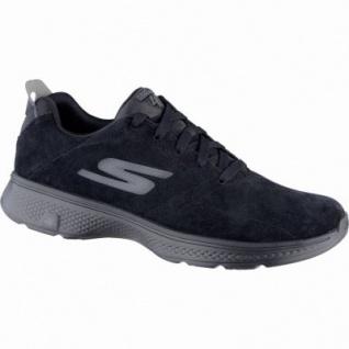 Skechers GO Walk 4 coole Herren Leder Sneakers black, GOga-Max-Fußbett, 4239150/39